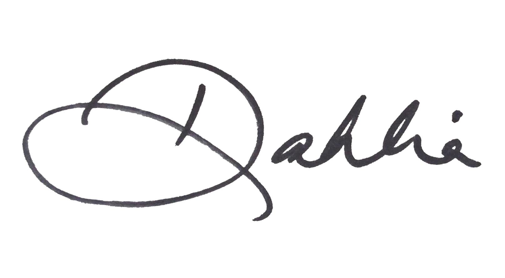Dahlia signature